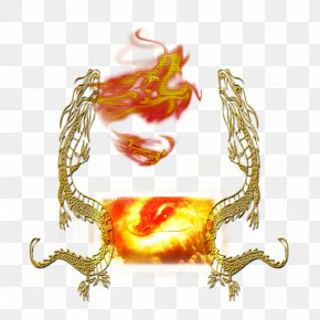Burning Flame Fire Dragon - Text Character Fiction Illustration PNG