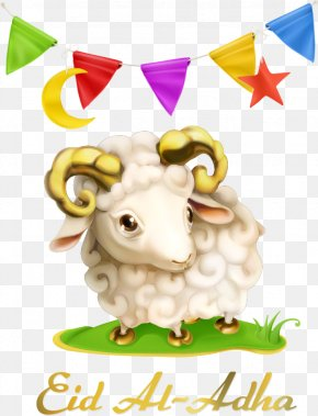 Vector Triangle Flags And Sheep - Eid Al-Adha Eid Al-Fitr Muslim Eid Mubarak Holiday PNG