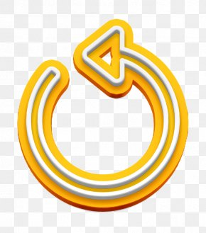 Symbol Yellow - Play Back Icon Repeat Icon Replay Icon PNG