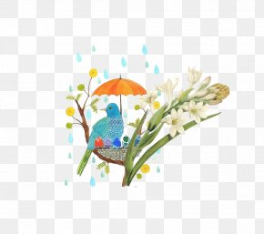 Rain Bird Umbrella Cover - Rain Umbrella Icon PNG