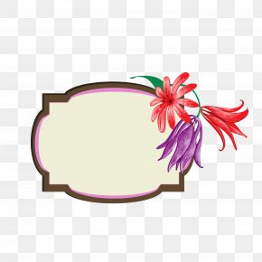 Floral Decorative Frame Material - Flower Floral Design Clip Art PNG