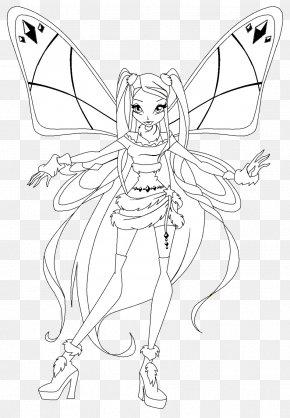 Fairy - /m/02csf Line Art Drawing Fairy Costume Design PNG