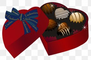 Valentine Red Heart Chocolate Box PNG Clipart - Chocolate Truffle Valentine's Day Chocolate Sandwich Clip Art PNG