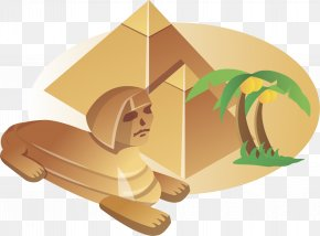 Cartoon Landmark Free - Great Sphinx Of Giza Great Pyramid Of Giza Royalty-free Illustration PNG