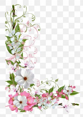 Pink And Green Spring Decor Picture Clipart - Flower Clip Art PNG