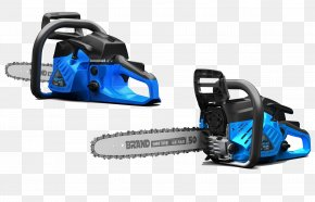 Blue Chainsaw Show - China Power Tool Saw Garden Tool PNG