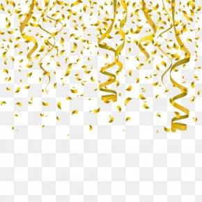 Gold Ribbon - Confetti Interior Design Services Clip Art PNG