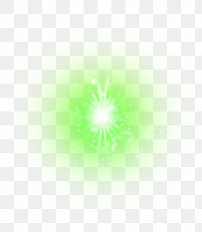 Green Star Light Effect Element - Fire Explosion Icon PNG