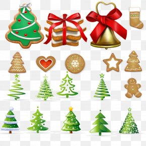 Christmas Trees And Christmas Cookies - Christmas Tree Christmas Ornament Cookie PNG