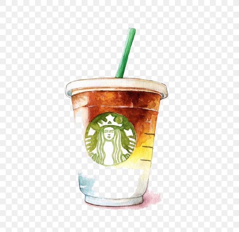 Coffee Latte Tea Starbucks, PNG, 533x795px, Coffee, Coffee