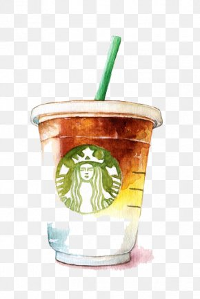 Watercolor Starbucks - Coffee Latte Tea Starbucks PNG