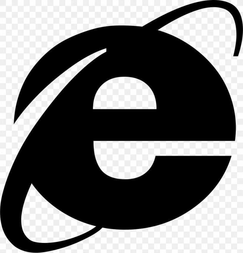 Internet Explorer Web Browser Microsoft, PNG, 944x981px, Internet Explorer, Area, Artwork, Black And White, Icon Design Download Free
