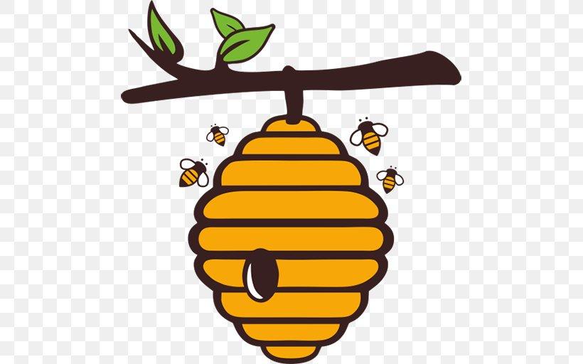 Western Honey Bee Beehive Royalty-free Euclidean Vector, PNG, 512x512px, Western Honey Bee, Artwork, Bee, Beehive, Food Download Free