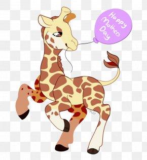 HAPPY MOTHERS DAY - Giraffe Mammal Wildlife Terrestrial Animal PNG