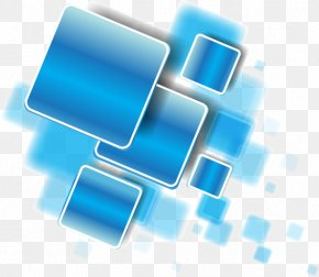 Science And Technology Blue Abstract Geometric Polygon Quadrilateral - Blue Download PNG