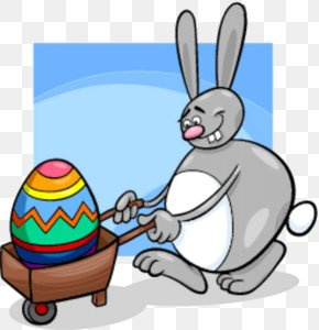 Free Button Rabbit Push Egg - Easter Bunny Cartoon Illustration PNG