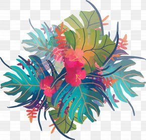 Watercolor Tropical Plants PNG