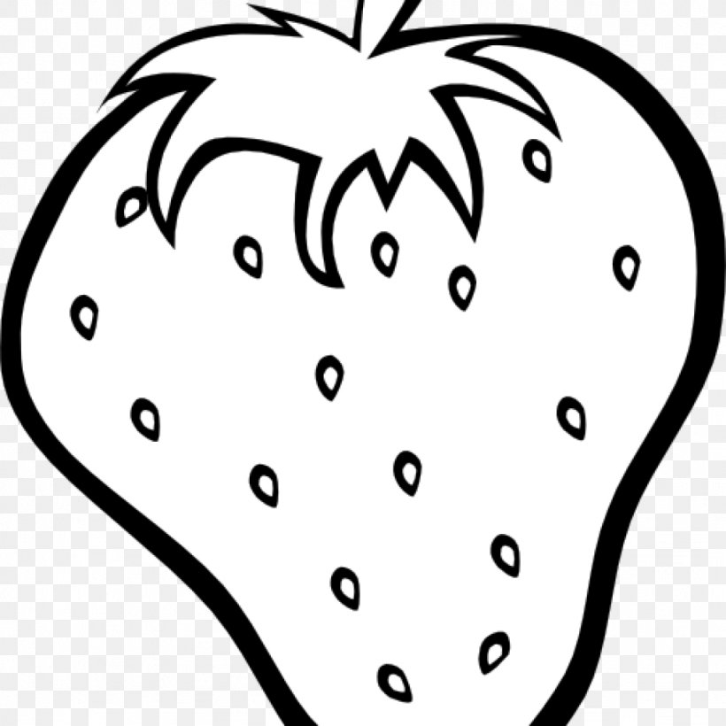 Clip Art Strawberry Image Fruit Black And White, PNG ...