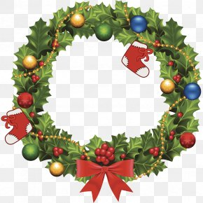Wreaths Of Wreaths At Christmas - Wreath Christmas Garland Clip Art PNG