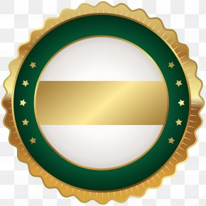 Seal Badge Green Gold Clip Art Image - Badge Clip Art PNG