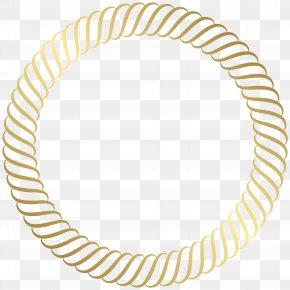Round Gold Border Clip Art Image - Gold Clip Art PNG