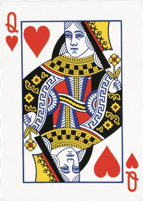 Playing Cards - Queen Of Hearts Playing Card Stock Photography PNG