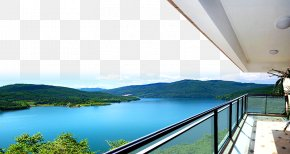 Posters Lakeside Estate Balcony - Lac La Montagne Lake Balcony Real Estate PNG