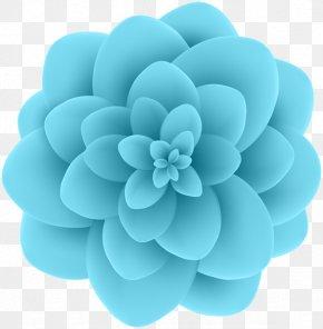 Aqua Frame - Blue Flower Blue Flower Clip Art PNG