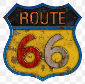 Route - U.S. Route 66 Metal Sticker Decal Road PNG