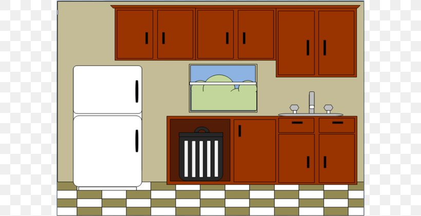 Kitchen Cabinet Furniture Clip Art, PNG, 600x421px ...