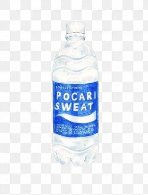 Watercolor Mineral Water Bottle - Water Bottle Mineral Water Bottled Water Illustration PNG