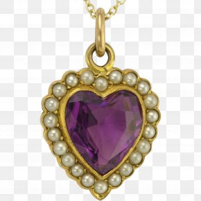 Vintage Gold - Charms & Pendants Jewellery Amethyst Necklace Gold PNG
