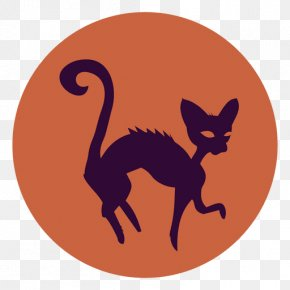 Cat - Whiskers Cat Silhouette Halloween Drawing PNG