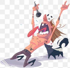 Cartoon Man Singing - Cartoon Singing Behance Illustration PNG