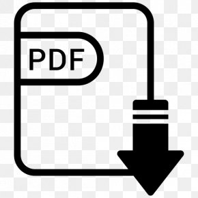 Pdf Download Icon - Document File Format Filename Extension PNG