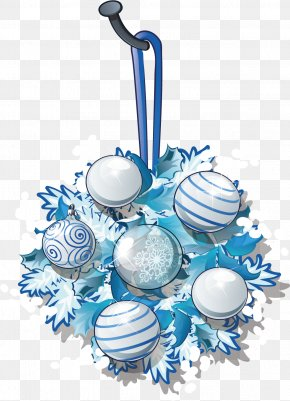 Blue Snowflake Ornaments Holiday Decorations - Download Christmas Ornament PNG