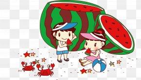 Watermelon Edge Of Children - Beach Illustration PNG