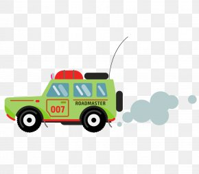 Vector Cartoon Row Of Exhausted Jeeps - Car Jeep Euclidean Vector Motor Vehicle PNG