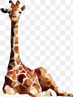 Vector Three-dimensional Origami Giraffe - Northern Giraffe Sticker Happiness Decal PNG