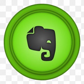Evernote - Symbol Yellow Green Smile PNG