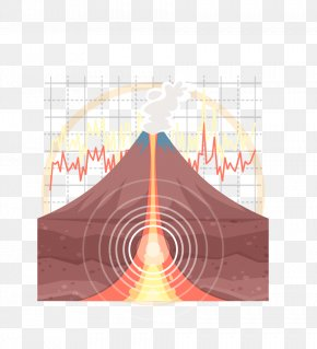 Sectional View Of Volcano - Volcano Euclidean Vector Magma PNG