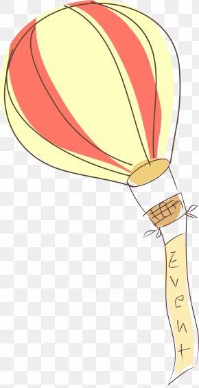Hot Air Balloon Banner - Hot Air Balloon Clip Art PNG