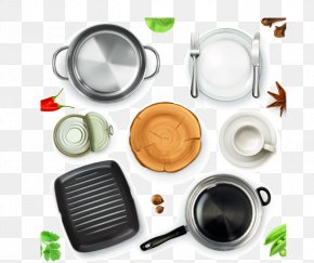 Kitchen Utensils Vector Material, - Kitchen Utensil Frying Pan Cookware And Bakeware PNG