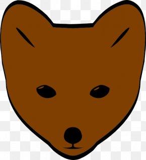 Fox Face Cliparts - Red Fox Cartoon Clip Art PNG