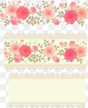 Pink Roses Flower Background - Rose Flower Pattern PNG