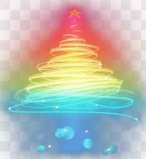 Multicolored Gradual Vector Christmas Tree Decorative Pattern - Christmas Tree Santa Claus PNG