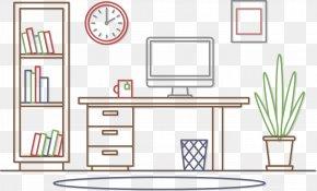 Workspace Smartphone Phone Information - Euclidean Vector Interior Design Services Office Clip Art PNG
