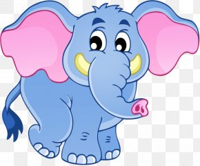 Hand-painted Baby Elephant - African Elephant Indian Elephant Clip Art PNG