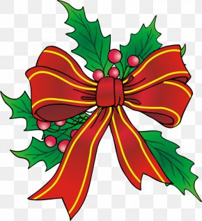 Christmas Bow - Clip Art Openclipart Borders And Frames Free Content Image PNG