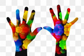 Thumb Glove - Finger Hand Gesture Colorfulness Glove PNG